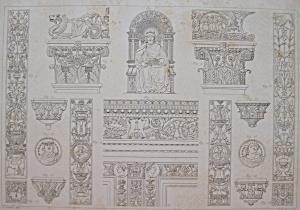 Eglise De La Chartreuse, Pres De Pavie  1852 Lithograph (Image1)