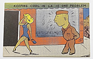 Army Man Staring At Woman Walking By (Image1)
