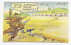 Army Man Shooting Birds, Instead Of Targets (Image1)