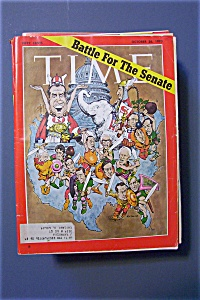 Time Magazine -october 26, 1970- Battle For The Senate