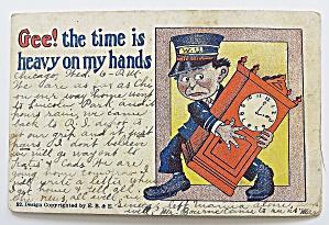 Man Holding A Clock (Image1)