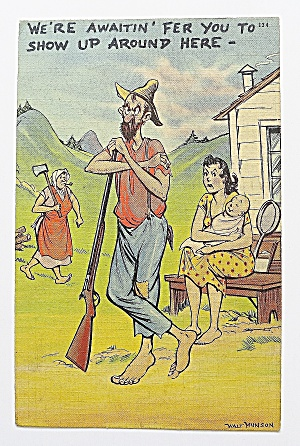 Man With Gun, Woman With Axe & Woman With Baby (Image1)