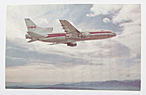 TWA: L-1011 Airplane Postcard  (Image1)