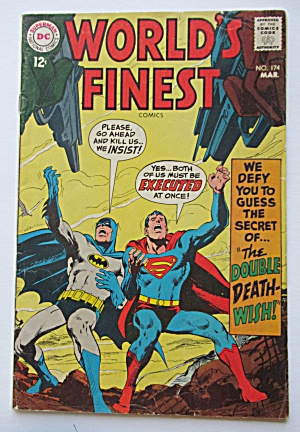 World's Finest #174 March 1968 Double Death Wish