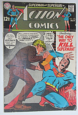 Action Comics #376 May 1969 Only Way To Kill Superman
