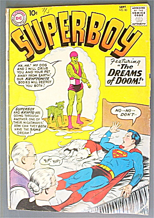 Superboy #83 September 1960 The Dreams Of Doom