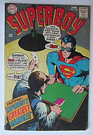 Superboy Comic June 1968 Superboy's Greatest Gamble