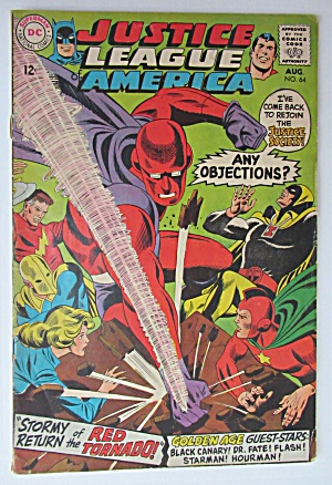Justice League Of America Comic August 1968 J. Society