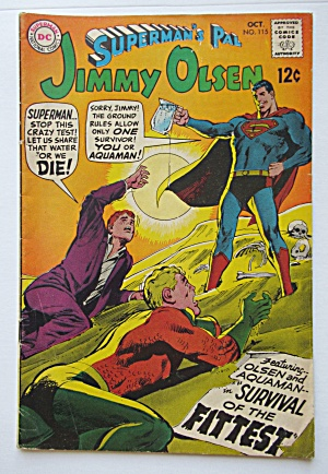 Superman's Pal Jimmy Olsen Comic October 1968 Fittest