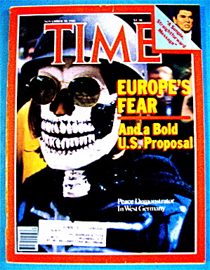 Time Magazine-november 30, 1981-europe's Fear