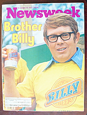 Newsweek Magazine-november 14, 1977-billy Carter