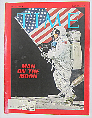 Time Magazine-july 25, 1969 -man On The Moon