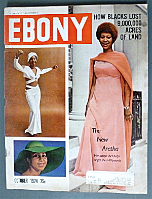 Ebony Magazine October 1974 New Aretha Franklin