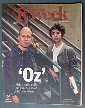 Tv Week July 6-12, 1997 Oz (Terry Kinney & Rita Moreno)