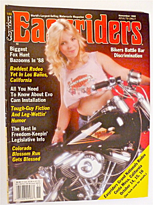 Easyriders November 1988 Baddest Rodeo