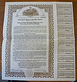 Consolidated Copper & Gold Mines LTD. Stock Certificate (Image1)