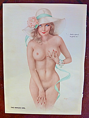 Alberto Vargas-pin Up Girl-may 1975-pinching Nipple