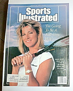 Sports Illustrated Magazine-august 28, 1989-c. Evert