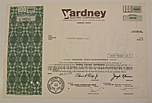 1971 Yardney Electric Corporation Stock Certificate