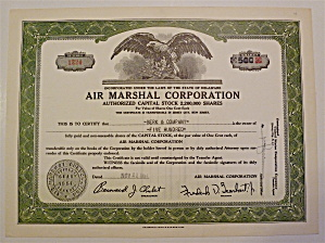 1951 Air Marshall Corporation Stock Certificate