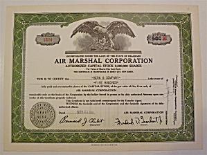 1951 Air Marshall Corporation Stock Certificate (Image1)