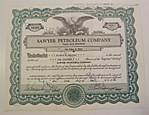 Sawyer Petroleum Company Stock Certificate (Image1)