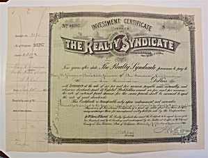 The Realty Syndicate Stock Certificate (Image1)
