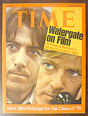 Time Magazine-march 29, 1976-watergate On Film