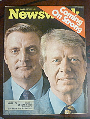 Newsweek Magazine-july 26, 1976-carter & Mondale