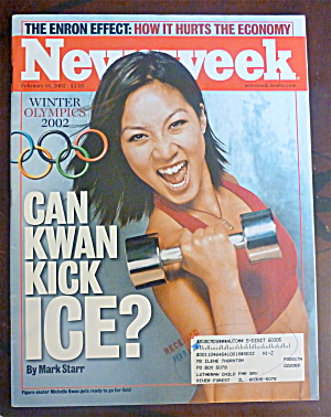 Newsweek Magazine-february 18, 2002-michelle Kwan
