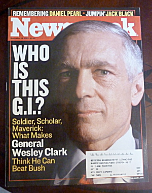 Newsweek Magazine-september 29, 2003-gen Clark