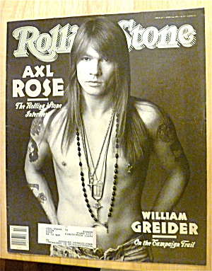 Rolling Stone-april 2, 1992-axl Rose