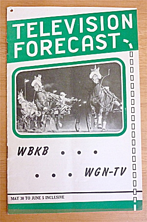 1948 Chicago Television Forecast Issue #4 Sulky Racing