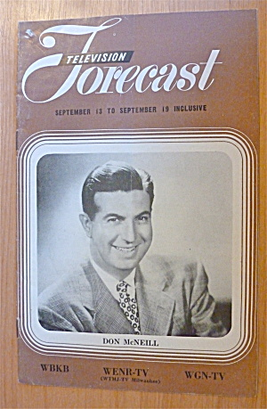 1948 Chicago Television Forecast Vol.1-#19 Don Mcneill