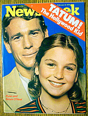 Newsweek Magazine-february 9, 1976-ryan & Tatum O'neal