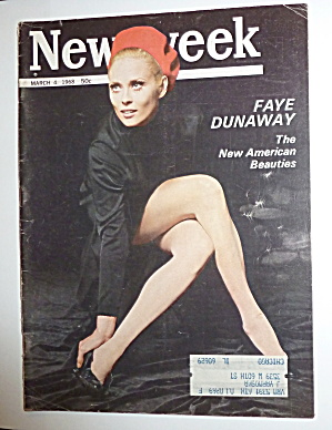 Newsweek Magazine-march 4, 1968-faye Dunaway