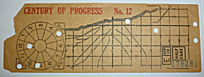 1933-34 Century Of Progress Chicago Transit Transfer