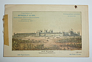 1876 International Exhibition Mc Neely & Co Trade Card  (Image1)