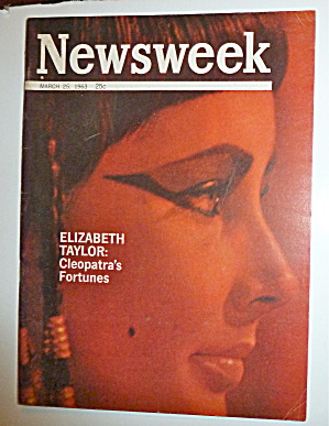 Newsweek Magazine-march 25, 1963-elizabeth Taylor