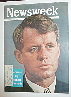 Newsweek Magazine-august 24, 1964-robert Kennedy
