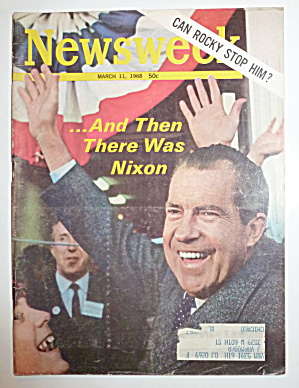 Newsweek Magazine-march 11, 1968-richard Nixon