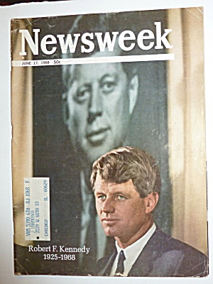 Newsweek Magazine-june 17, 1968-robert Kennedy