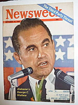 Newsweek Magazine-september 16, 1968-g. Wallace