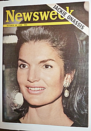 Newsweek Magazine-october 28, 1968-jackie Onassis