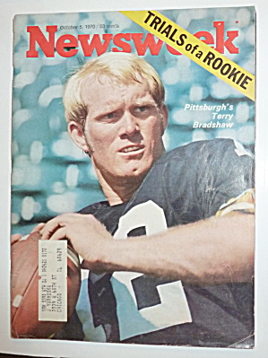 Newsweek Magazine-october 5, 1970-terry Bradshaw