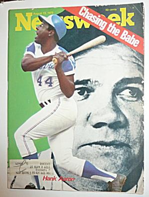 Newsweek Magazine-August 13, 1973-Hank Aaron (Image1)