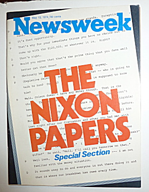 Newsweek Magazine-may 13, 1974-nixon Papers