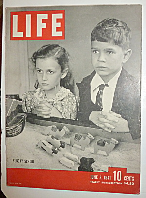 Life Magazine-june 2, 1941-sunday School