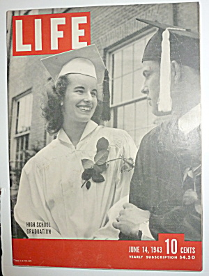 Life Magazine-june 14, 1943-high School Graduation