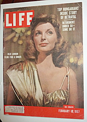 Life Magazine-february 18, 1957-julie London